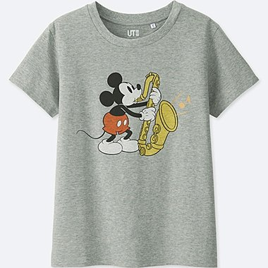 WOMEN SOUNDS OF DISNEY SHORT-SLEEVE GRAPHIC T-SHIRT, GRAY, medium