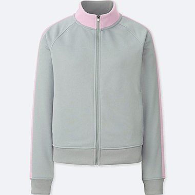 WOMEN TRICOT JERSEY JACKET, GRAY, medium
