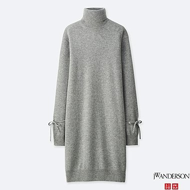 WOMEN J.W.ANDERSON CASHMERE OVERSIZE LONG-SLEEVE KNIT DRESS