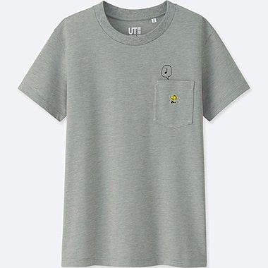 WOMEN PEANUTS SHORT-SLEEVE GRAPHIC T-SHIRT, GRAY, medium