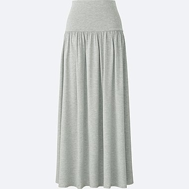 WOMEN 2-WAY LONG SKIRT, GRAY, medium