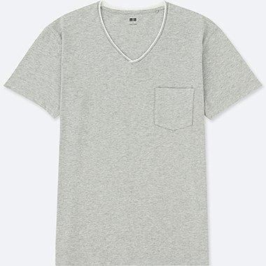 Herren 100% Baumwoll T-Shirt (V-Ausschnitt)