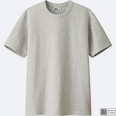 MEN U CREWNECK SHORT-SLEEVE T-SHIRT, GRAY, medium