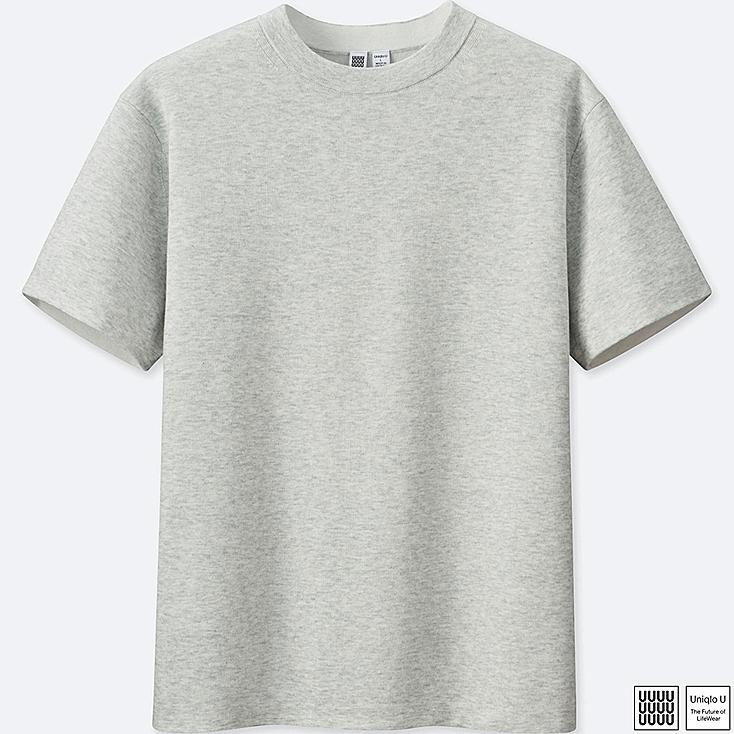 MEN UNIQLO U Cotton Crew Neck Short Sleeve Sweater