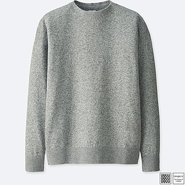 MEN UNIQLO U 100% COTTON MOCK NECK LONG SLEEVE SWEATER