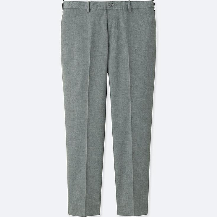 MEN RELAXED ANKLE-LENGTH PANTS (COTTON), GRAY, large