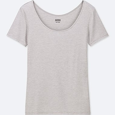WOMEN HEATTECH SCOOP NECK SHORT SLEEVED T-SHIRT