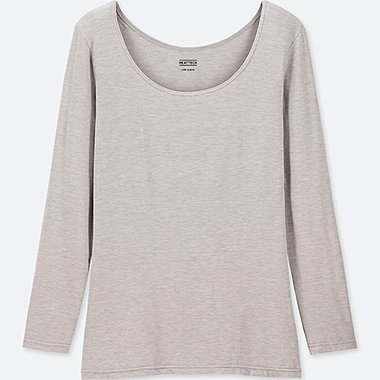 WOMEN HEATTECH JERSEY SCOOP NECK LONG SLEEVED T-SHIRT