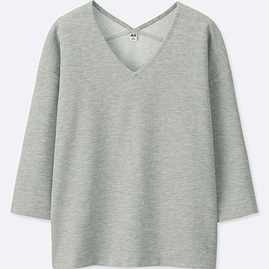 WOMEN Milano Ribbed 3/4 Sleeve Pullover