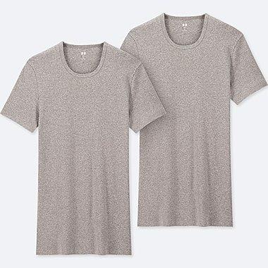 MEN SUPIMA® COTTON CREW NECK SHORT-SLEEVE T-SHIRT (SET OF 2), GRAY, medium