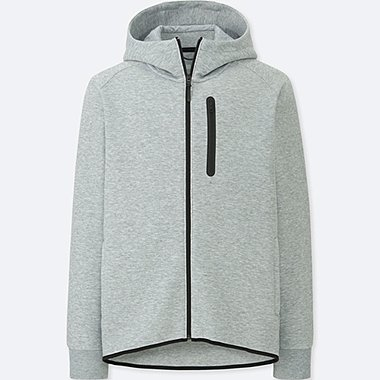 MEN DRY STRETCH SWEAT ZIPPED HOODIE