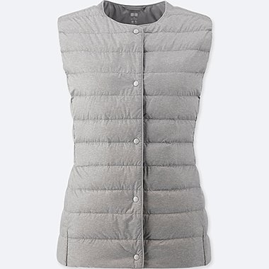 WOMEN ULTRA LIGHT DOWN COMPACT VEST, GRAY, medium