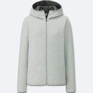 WOMEN FLEECE LINED WINDPROOF ZIPPED HOODIE