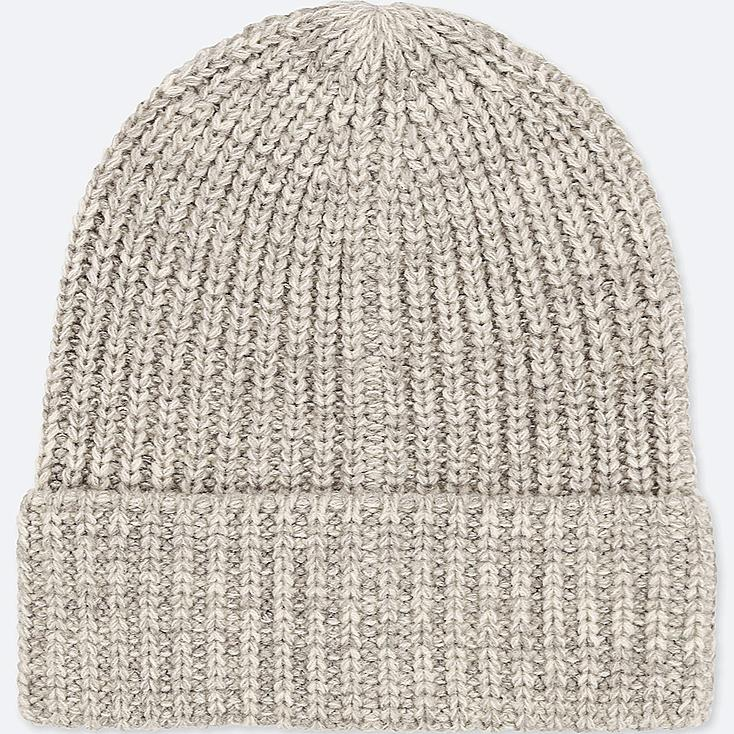 HEATTECH KNITTED CAP, GRAY, large