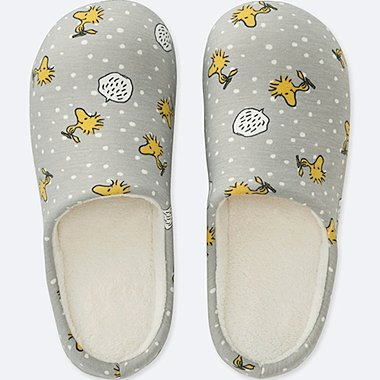 PEANUTS SLIPPERS, GRAY, medium