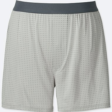 MEN AIRism DOT-PRINT BOXERS, GRAY, medium