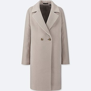WOMEN LIGHTWEIGHT WOOL-BLEND TAILORED COAT, GRAY, medium