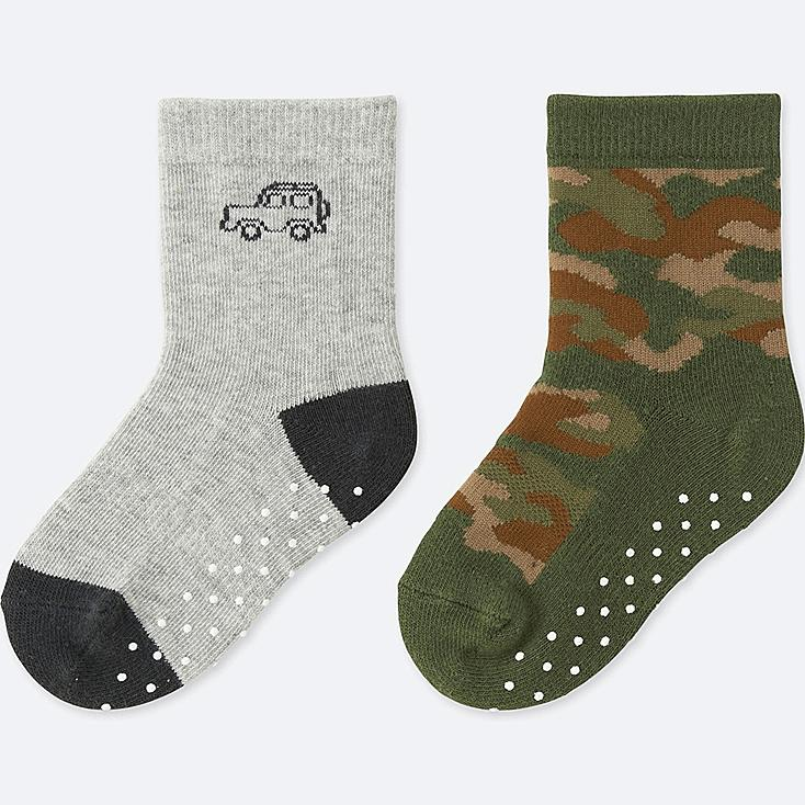 BABY SOCKS (2 PAIRS), GRAY, large