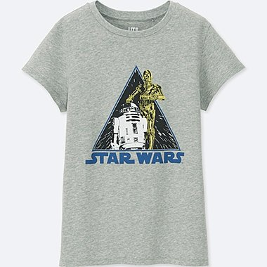 WOMEN Back to the 80s SHORT-SLEEVE GRAPHIC T-SHIRT (STAR WARS), GRAY, medium