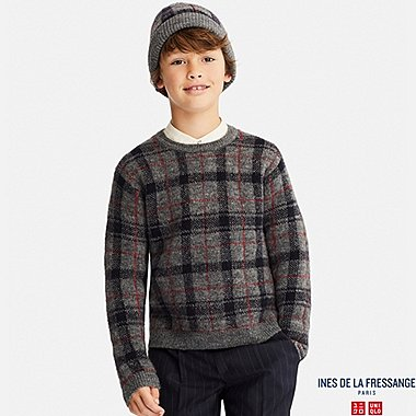 KIDS LONG-SLEEVE SWEATER (INES DE LA FRESSANGE), GRAY, medium