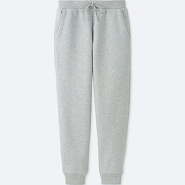 WOMEN WIND PROOF FLEECE PANTS, GRAY, medium