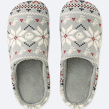 DISNEY HOLIDAY COLLECTION SLIPPERS, GRAY, medium