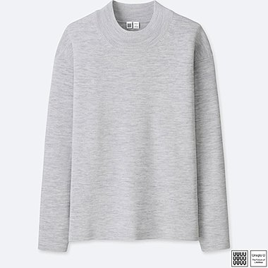 MEN UNIQLO U MILANO RIBBED MOCK NECK LONG SLEEVE SWEATER