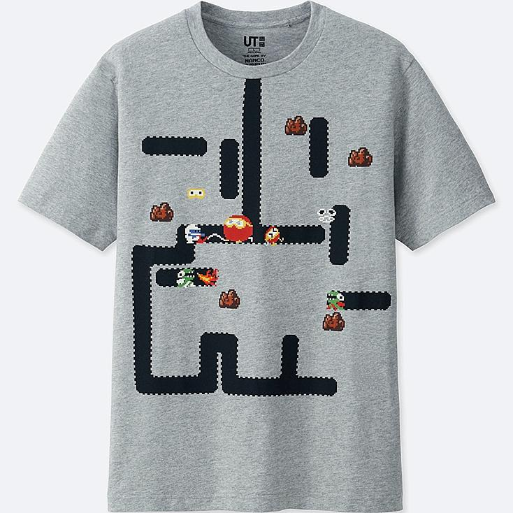 THE GAME BY NAMCO MUSEUM UT DIG DUG (SHORT-SLEEVE GRAPHIC T-SHIRT), GRAY, large