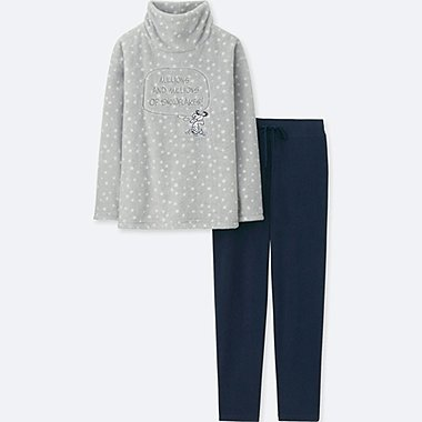 DAMEN FLEECE-LOUNGE-SET PEANUTS