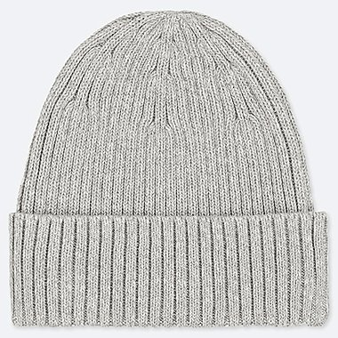 RIBBED BEANIE, GRAY, medium