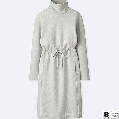 WOMEN UNIQLO U TURTLE NECK LONG SLEEVED SWEATSHIRT DRESS