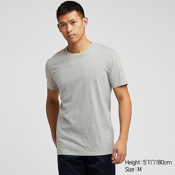 MEN PACKAGED DRY CREW NECK SHORT-SLEEVE T-SHIRT, GRAY, large