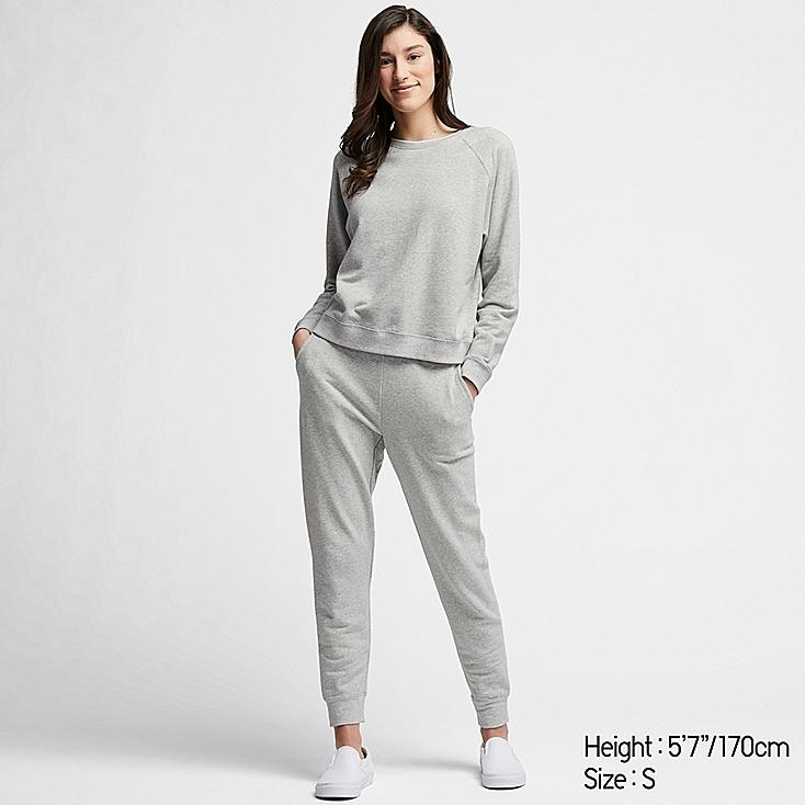 WOMEN ULTRA STRETCH LONG-SLEEVE SET, GRAY, large