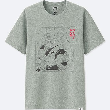 JUMP 50th SHORT-SLEEVE GRAPHIC T-SHIRT (DRAGON BALL), GRAY, medium