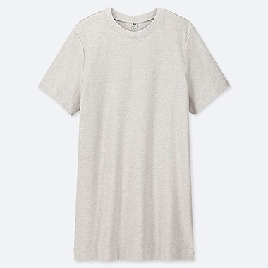 WOMEN BOYFRIEND SHORT-SLEEVE TUNIC (ONLINE EXCLUSIVE), GRAY, medium
