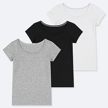 TODDLER COTTON INNER SHORT-SLEEVE T-SHIRT (SET OF 3) (ONLINE EXCLUSIVE), GRAY, medium