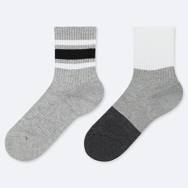 BOYS LINE PRINT SOCKS (TWO PAIRS)
