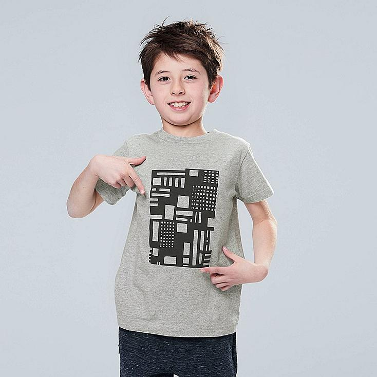 KIDS SUPER GEOMETRIC GEORGE SOWDEN UT (SHORT-SLEEVE GRAPHIC T-SHIRT), GRAY, large