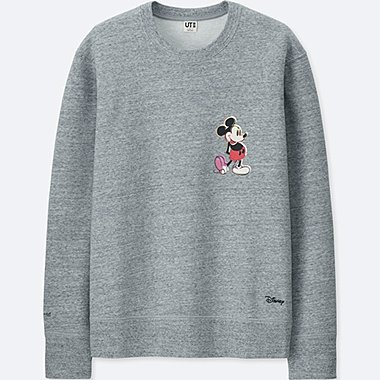 MEN MICKEY ART SWEATSHIRT (ANDY WARHOL), GRAY, medium