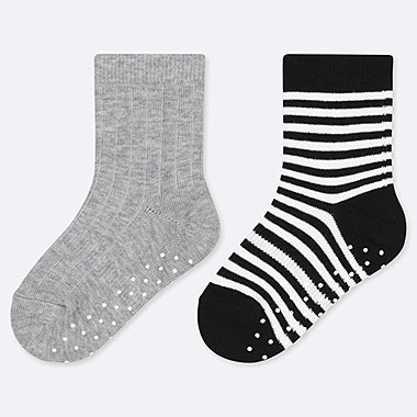 BABY SOCKS (2 PAIRS), GRAY, medium