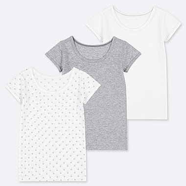 TODDLER COTTON MESH SHORT-SLEEVE INNER (SET OF 3), GRAY, medium