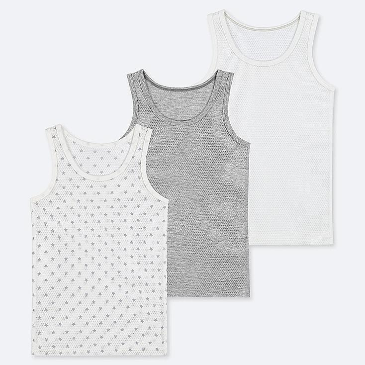 TODDLER COTTON MESH INNER TANK TOP (SET OF 3), GRAY, large