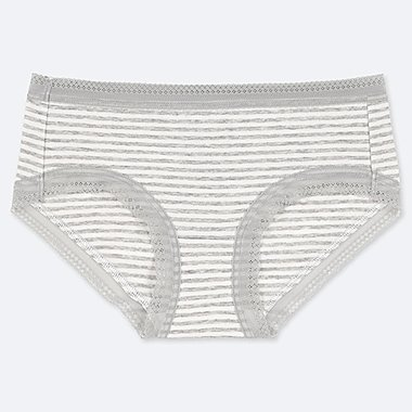 WOMEN STRIPE HIPHUGGER, GRAY, medium