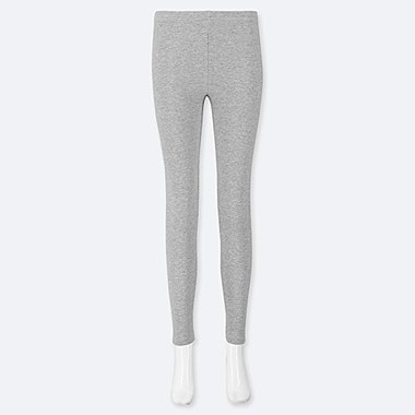 WOMEN WAFFLE LEGGINGS, GRAY, medium
