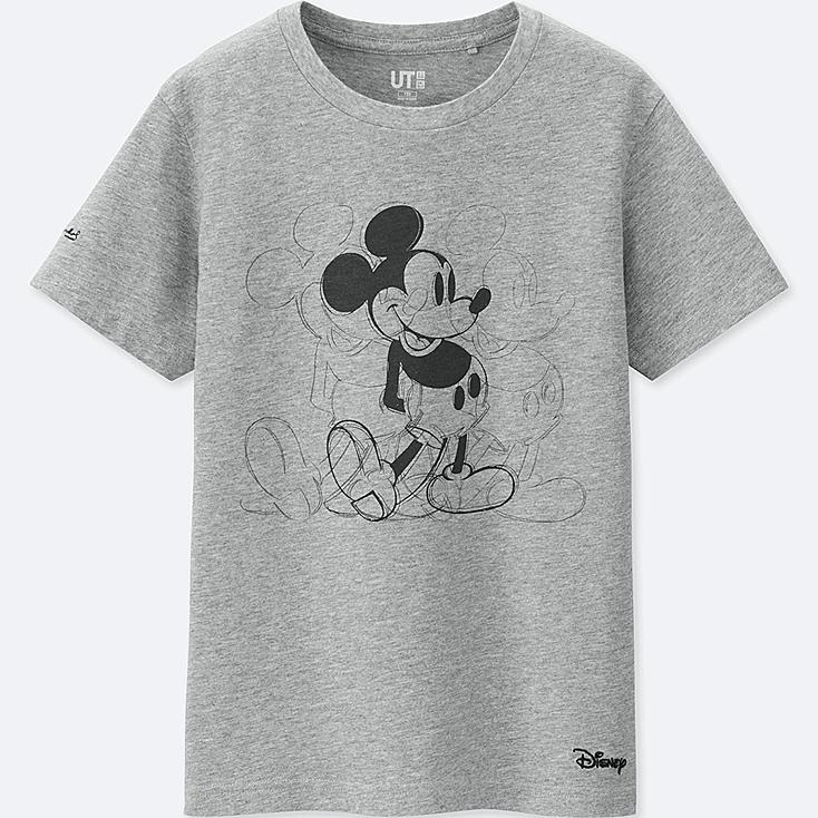 KIDS MICKEY ART SHORT-SLEEVE GRAPHIC T-SHIRT (ANDY WARHOL), GRAY, large