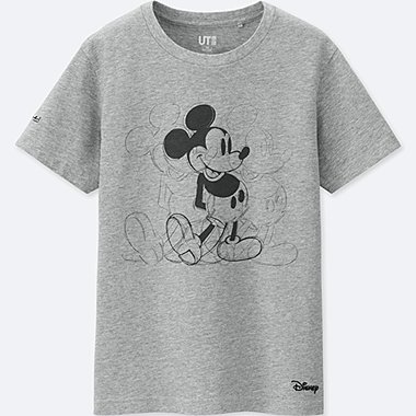 KIDS MICKEY ART SHORT-SLEEVE GRAPHIC T-SHIRT (ANDY WARHOL), GRAY, medium