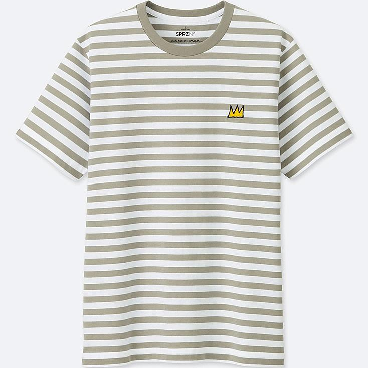 Men Sprz Ny Graphic Print T Shirt (Jean Michel Basquiat) by Uniqlo