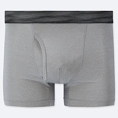 MEN AIRism BOXER BRIEFS, GRAY, medium