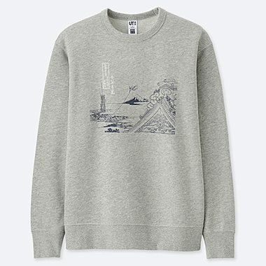 HOKUSAI BLUE GRAPHIC SWEATSHIRT, GRAY, medium