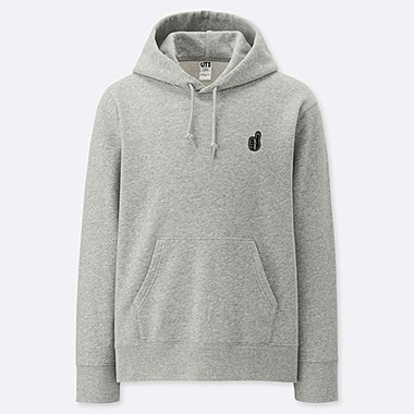 PIETER CEIZER GRAPHIC HOODED SWEATSHIRT, GRAY, medium